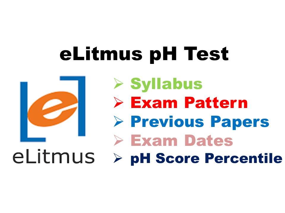 eLitmus Syllabus 2018-19