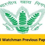 FCI JK Watchman Previous Papers PDF