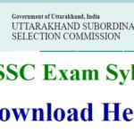 UKSSSC Syllabus PDF