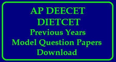 AP DEECET Syllabus 2018