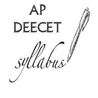 AP DEECET Syllabus 2019