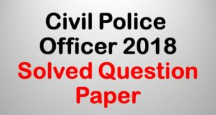 KPSC Civil Police Officer Previous Papers PDF