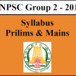 TNPSC Group 2 Syllabus and Study material in Tamil PDF