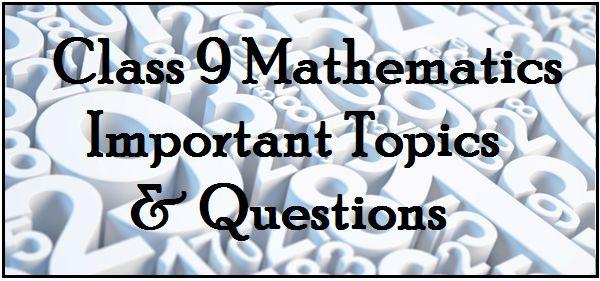 9th Class SA1 Maths Question Papers