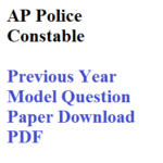 AP Police Constable Model Papers in Telugu