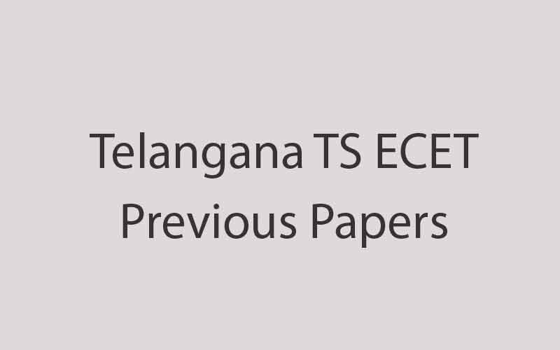 TS ECET Question Papers PDF With Answers