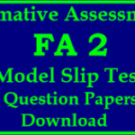 Formative Assessment 2 Question Papers