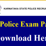 Karnataka Police Constable Previous Papers PDF