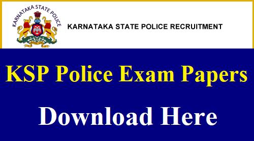 Karnataka Police Constable Previous Papers PDF