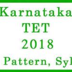Karnataka TET Syllabus 2018 PDF