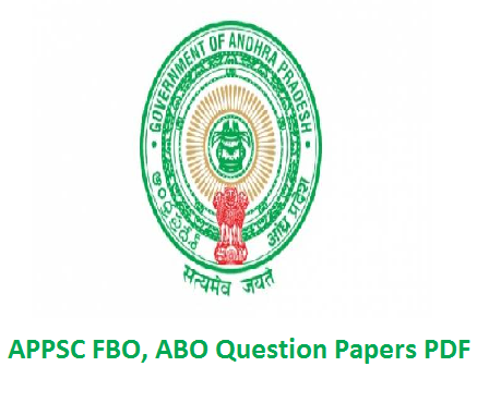 APPSC FBO ABO Question Papers