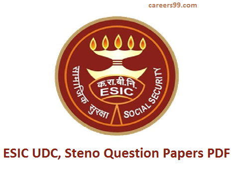 ESIC UDC Question Papers