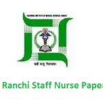 RIMS Ranchi Staff Nurse Old Question Papers