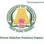TNFUSRC FW Previous Question Papers