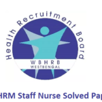 WBHRM Staff Nurse Previous Papers